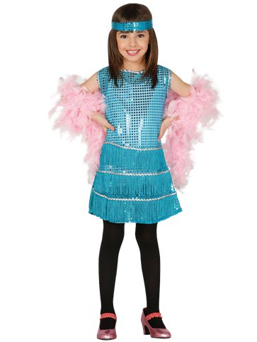 Blue Flapper Dress - Child Costume front