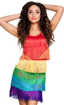 Rainbow Flapper Dress - Adult Costume