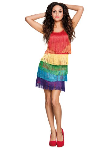Rainbow Flapper Dress - Adult Costume front