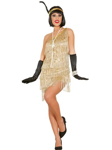 Gold Flapper Dress - Adult Costume front