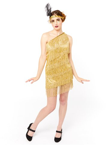 Gold Flapper Dress - Adult Costume left