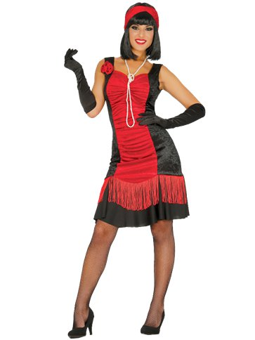 Charleston Red Flapper Dress - Adult Costume front