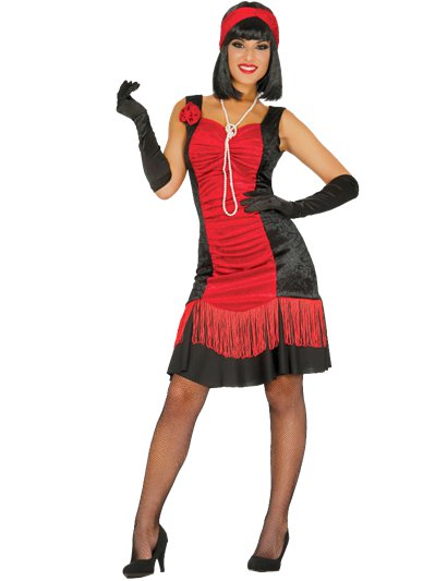 Charleston Red Flapper Dress - Adult Costume