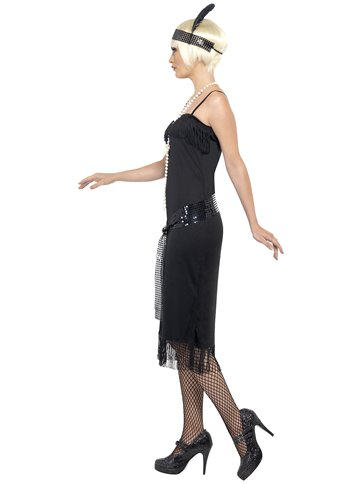 Black Flapper Dress - Adult Costume back