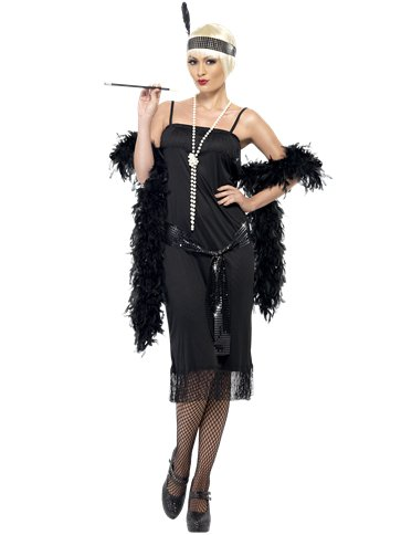 Black Flapper Dress - Adult Costume front