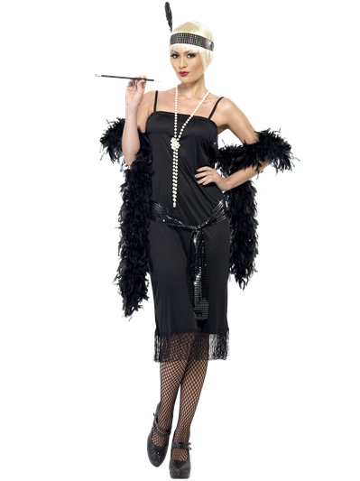 Black Flapper Dress - Adult Costume