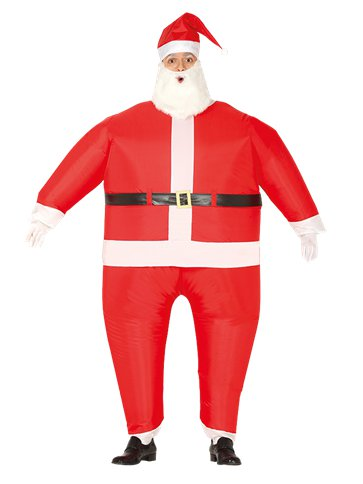 Inflatable Santa Claus - Adult Costume front