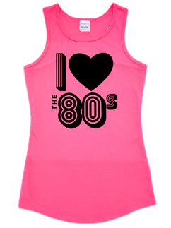 I Love the 80's Pink Vest Top