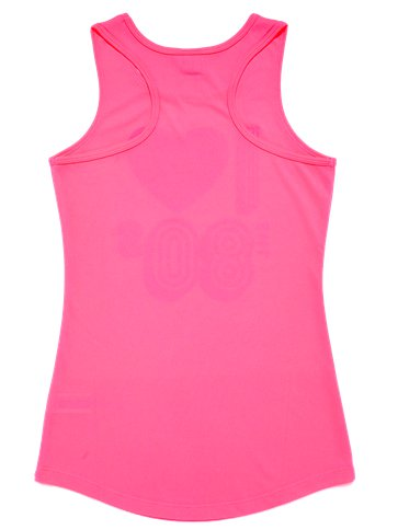 I Love the 80's Pink Vest Top - Adult Costume left