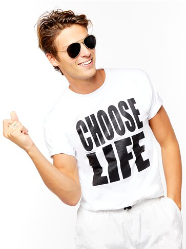 Choose Life T-Shirt - Adult Costume front