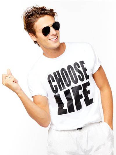 Choose Life T-Shirt - Adult Costume