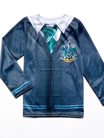 Slytherin Top - Child Costume back