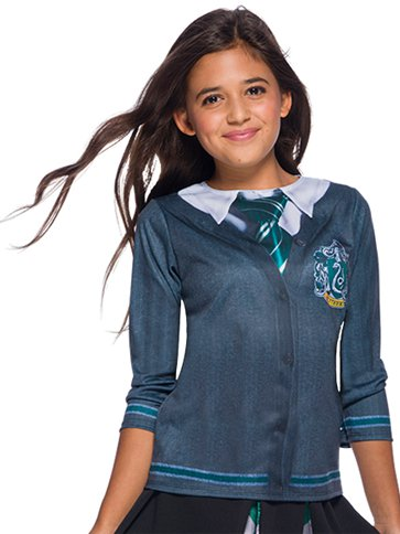 Slytherin Top - Child Costume front