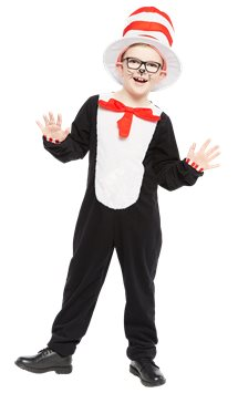 Dr. Seuss Cat in the Hat Jumpsuit - Child Costume