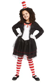 Dr. Seuss Cat in the Hat Dress - Child Costume