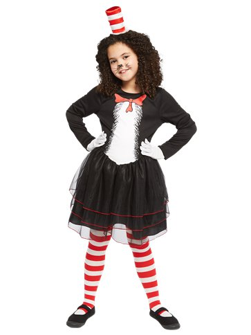 Dr. Seuss Cat in the Hat Dress - Child Costume front