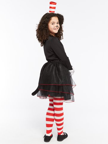 Dr. Seuss Cat in the Hat Dress - Child Costume left