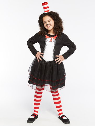 Dr. Seuss Cat in the Hat Dress - Child Costume pla