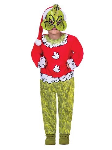 The Grinch Jumpsuit Child Costume Party Delights