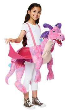 Ride on Pink Dragon - Child Costume