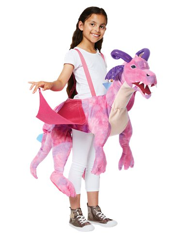 Ride on Pink Dragon - Child Costume front