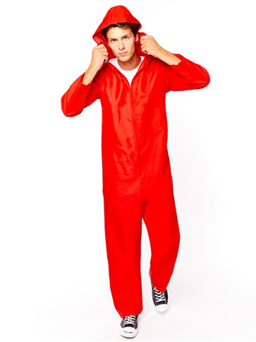Red Heist Jumpsuit - Adult Costume front