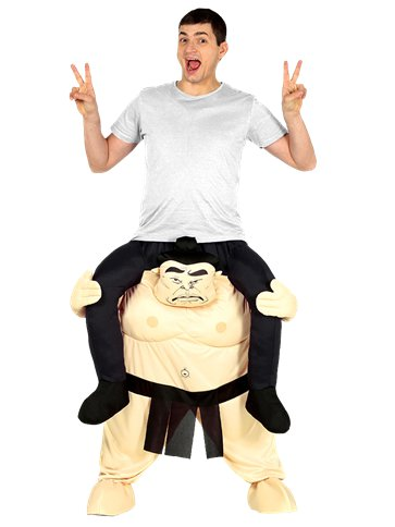 Piggy Back Sumo - Adult Costume front