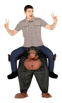 Piggy Back Gorilla - Adult Costume