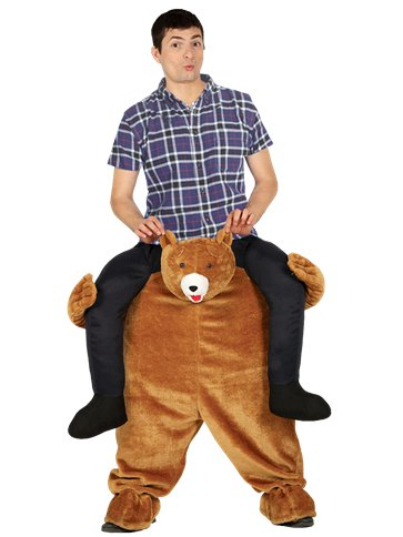 Piggy Back Bear - Adult Costume front