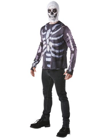 Fortnite Skull Trooper Kit Adult Costume Party Delights