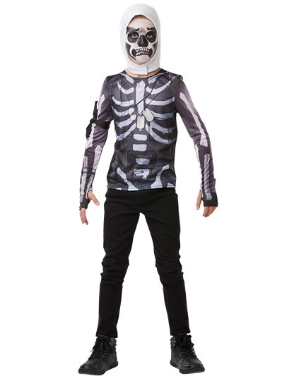 Fortnite Skull Trooper Kit - Child & Teen Costume