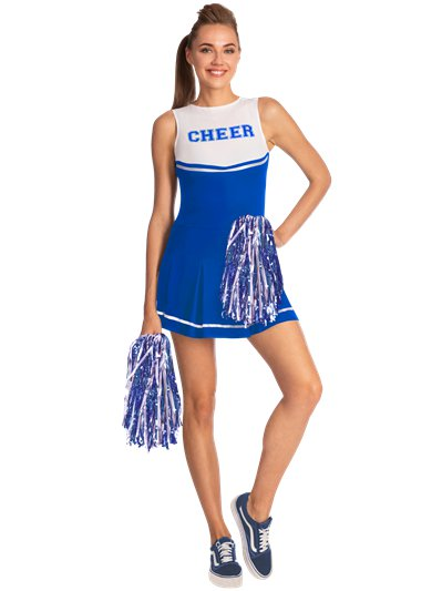 Blue High School Cheerleader - Adult Costume