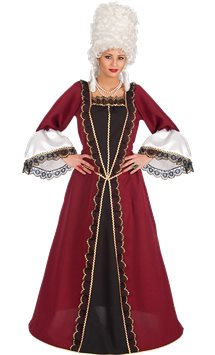 Renaissance Satin Dress - Adult Costume