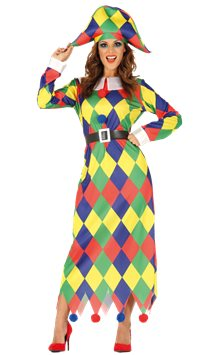 Harlequin Dress - Adult Costume