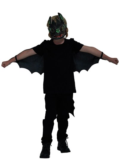Fancy Dress - Boys Toothless Glow in the Dark Accessory Set - One Size