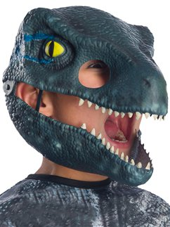 Velociraptor Blue Movable Jaw Mask