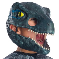 Fancy Dress Accessories Velociraptor Blue Movable Jaw Mask