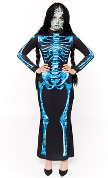 Diamond Skeleton Dress - Adult Costume