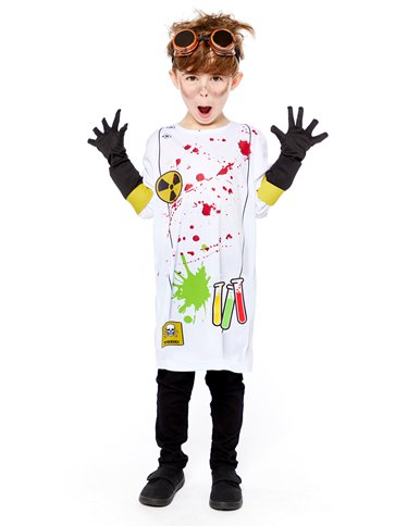 Zombie Scientist - Child Costume pla