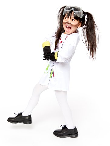 Zombie Scientist - Child Costume top