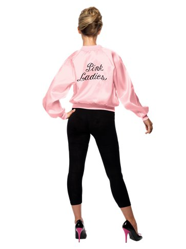 Grease Pink Lady Jacket - Adult Costume left