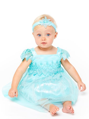 Disney Frozen Baby Elsa Lace Dress - Baby Costume front