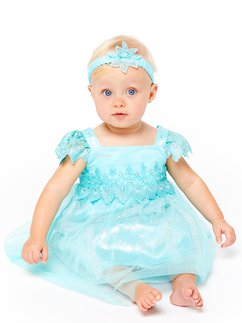 Disney Frozen Baby Elsa Lace Dress