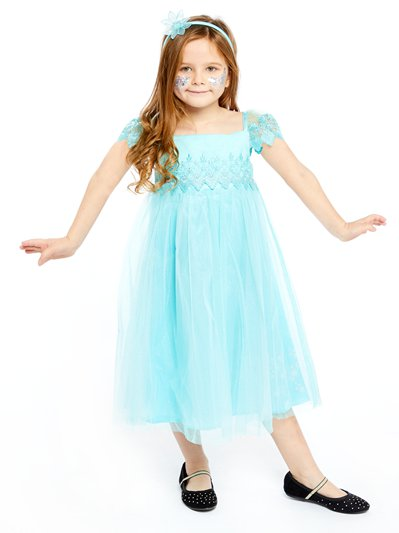 Elsa Aqua Lace Smock Dress - Toddler & Child Costume