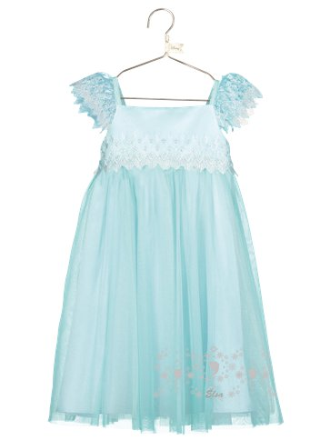 Disney Frozen Elsa Aqua Lace Dress - Toddler & Child Costume left