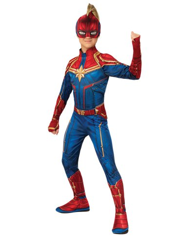 Captain Marvel Hero Suit - Child Costume front