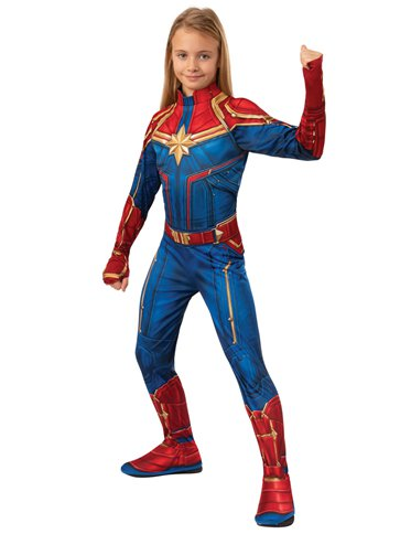 Captain Marvel Hero Suit - Child Costume left