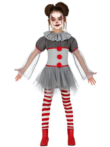 Bad Clown Girl - Child Costume front