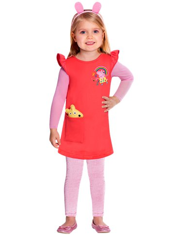 Peppa Pig Dress - Toddler & Child Costume front
