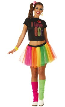 I Love the 80's - Adult Costume